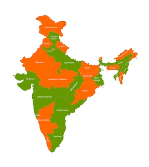 India State Map Vectors Photos And Psd Files Free Download