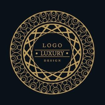 벡터 놀라운 럭셔리 로고 디자인