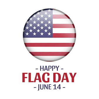 Vector american flag. happy flag day. patriotic national design. 14 june. independence day