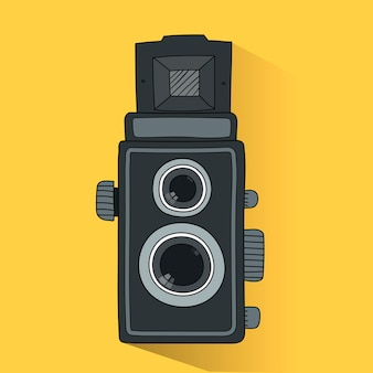 Vector of analog film camera