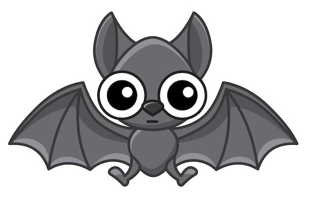 벡터 동물입니다. 만화 스타일의 재미있는 작은 뱀파이어 박쥐