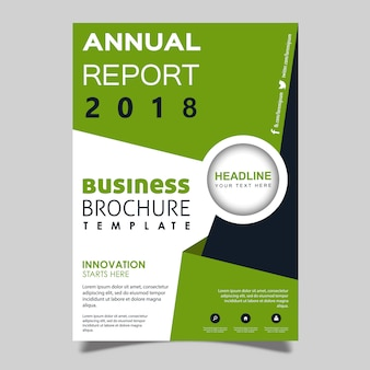 Vector annual report brochure template design