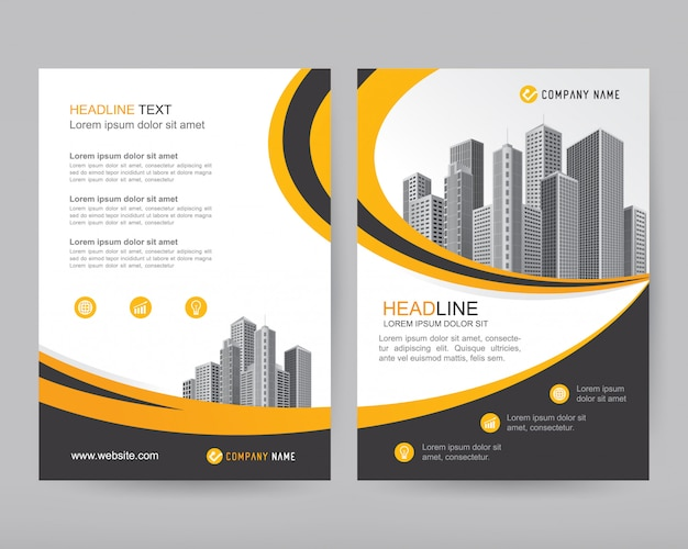 Vector annual report business brochure, flyers design
