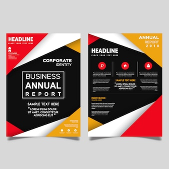 Vector Annual Report Business Brochure Template