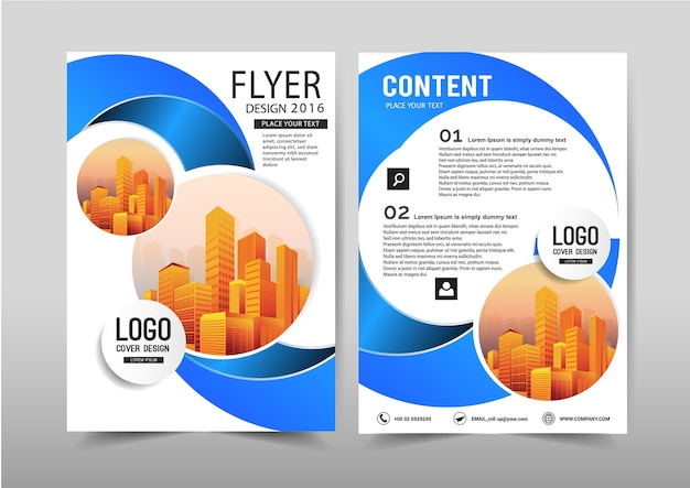 Vector annual report leaflet brochure flyer template a4 size design.