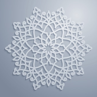 Vector arabic pattern circle ornament