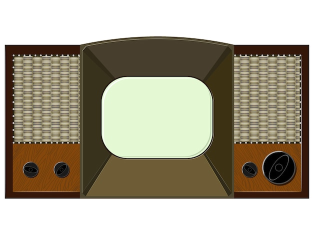 Vector artwork will old tv