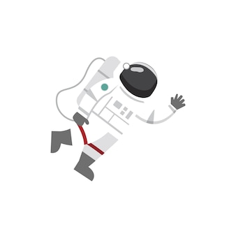 Vector of astronaut