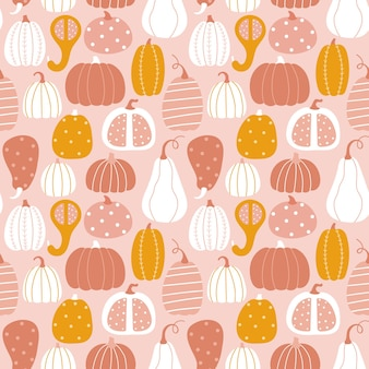 Vector autumn texture in flat style on a light pink background. design for autumn holidays