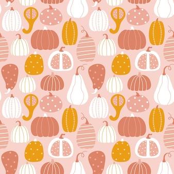 Вектор осенняя текстура в плоский на светло-розовом фоне. дизайн для осенних праздников