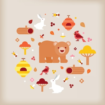 Vector of autumn