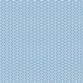 Vector background of blue japanese wave pattern