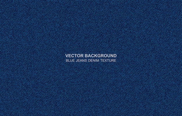 Vector background blue jeans denim texture