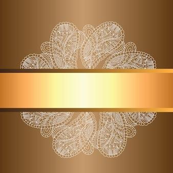 ベクトルの背景装飾的なレトロなバナー。カードまたは招待状。ヴィンテージの装飾的な要素。