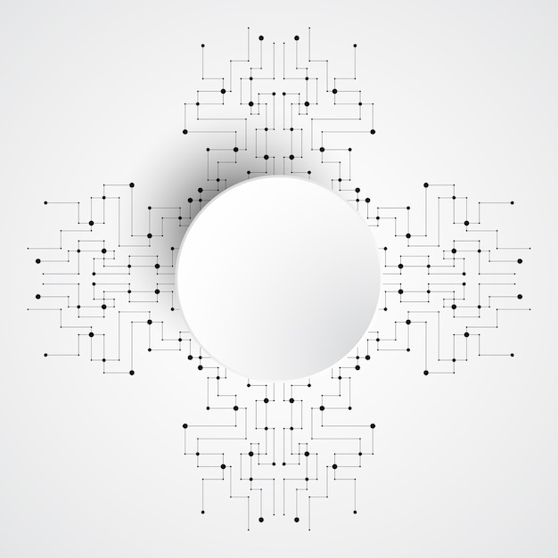 벡터 배경 전자 회로 디자인.
