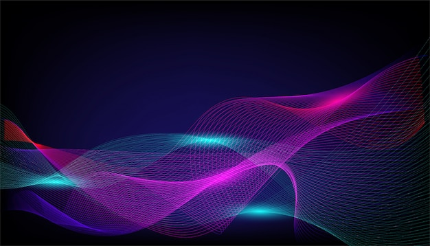 Vector background of flowing  lines