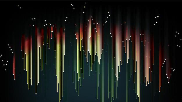 Векторный фон из потока светящихся квантовых частей. eps 10.