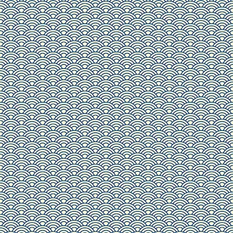 Vector background of green japanese wave pattern