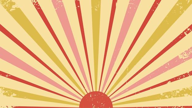 レトロなスタイルのベクトルの背景レトロな太陽サーカスレトロ抽象的な80年代