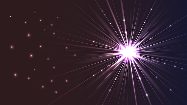 光線と明るい明るい星の形で背景をベクトルします。 eps10