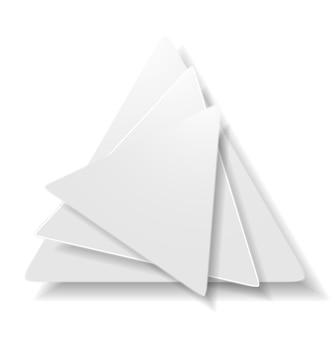 Векторный фон концептуальных форм треугольника. логотип технологии серого цвета
