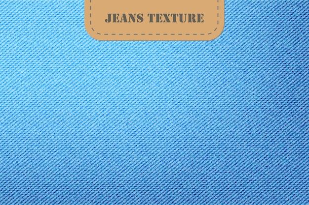 Векторный фон из джинсовой ткани синих джинсов, модный голубой холст, материал, текстильная одежда