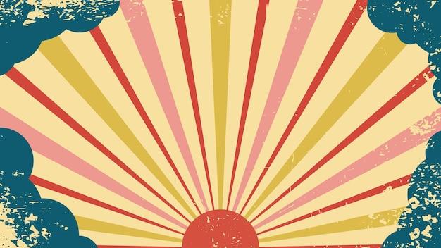 Vector background in retro style retro sun circus retro abstract 80s