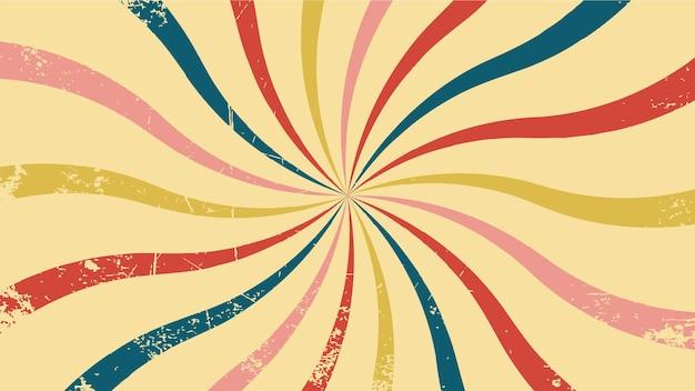 Vector background in retro style retro sun circus
