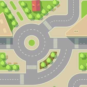 Vector background road intercharge and round