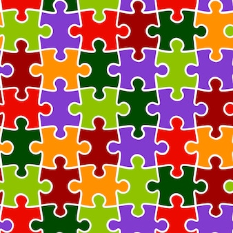 Vector background seamless pattern of multicolored puzzles. bright texture for wallpaper and wrapping.