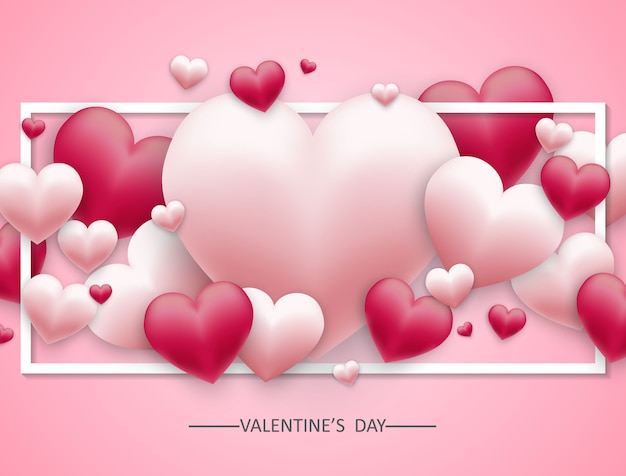 Vector background of valentine's day and free space for text