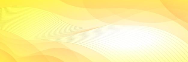 벡터 배경, 물결 모양입니다. 배너, 노란색 음영.