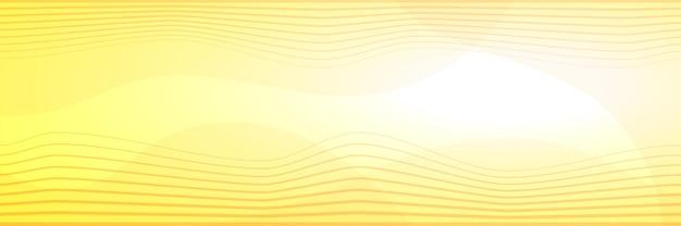 벡터 배경, 물결 모양, 배너, 노란색 음영