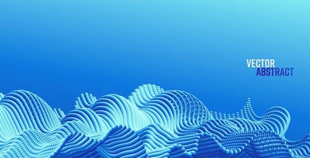 抽象的なビッグデータスプラッシュdドット現代科学バナーとベクトルの背景
