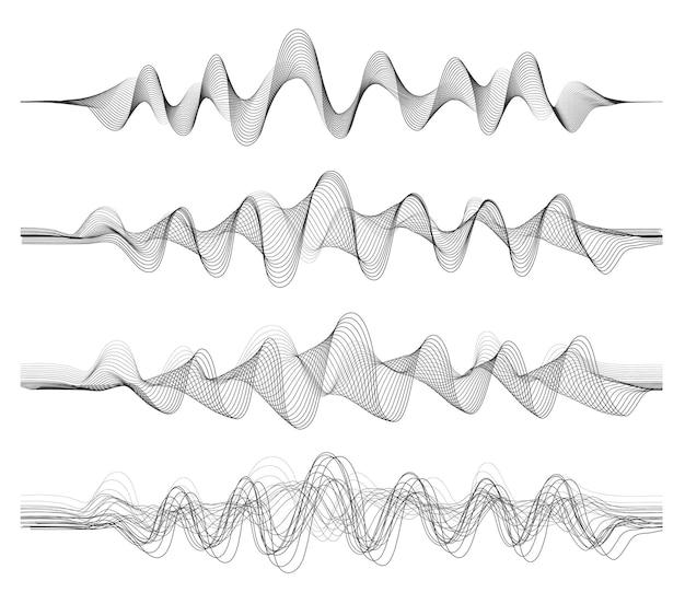 Векторный фон с черным цветом абстрактной волны смеси