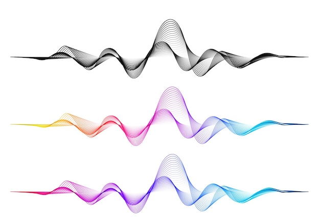 Vector background with color abstract blend wave