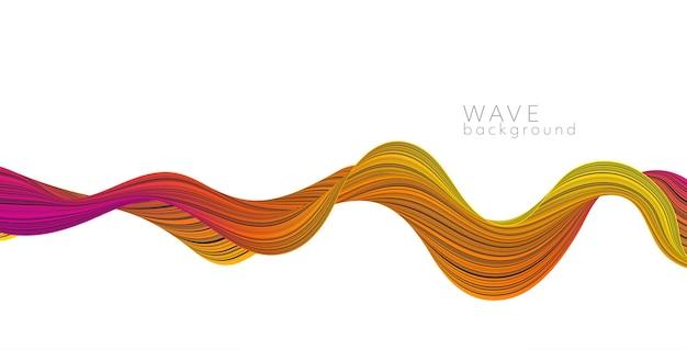 Векторный фон с цветной абстрактной волной. баннер современной науки