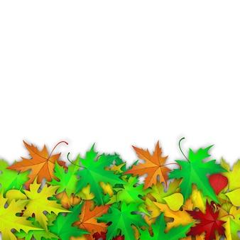 カラフルな紅葉とベクトルの背景