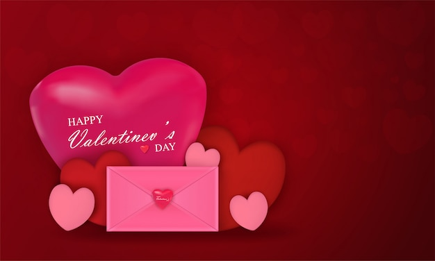 Vector background with colorful festival of valentine's day