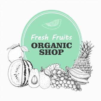 Векторный фон с фруктами