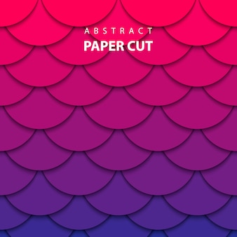 Vector background with gradient color paper cut
