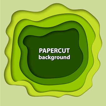 Vector background with green color paper cut