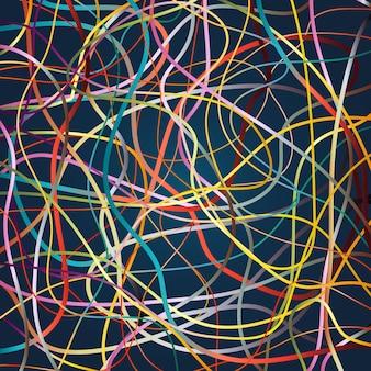 Векторный фон с движущимися красочными линиями. яркий фон из кривых линий с большим количеством цветов.