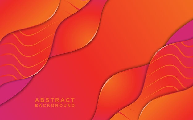 Vector background with orange paper cut