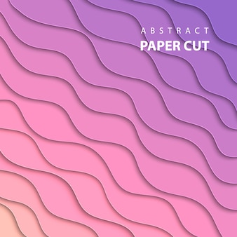 Vector background with pink and lila paper cut