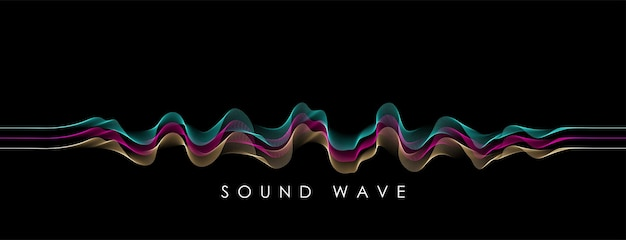 Vector background with spectrum color abstract wave . modern science banner . music equalizer or soundwave concept