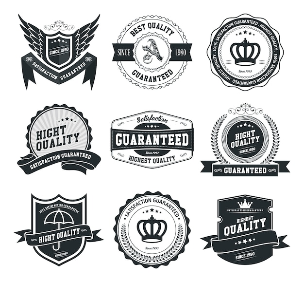 Vector badges and labels set