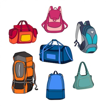 Vector bag design illustration