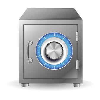 Vector bank safe concept - security concept Premium Vector