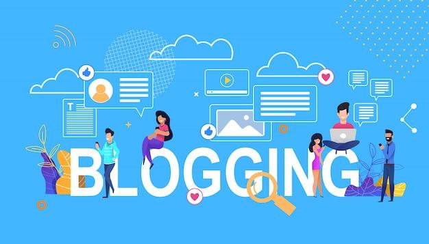 Vector banner  blogging